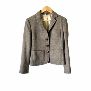 Vintage J. Crew Blazer Button Wool Jacket Coat